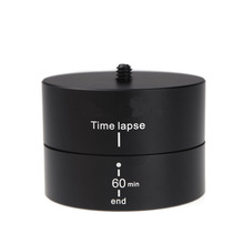 SHOOT 360 Degree 60 Minutes Panning Rotating Tripod Time Lapse Stabilizer Tripod Adapter for Gopro SJCAM