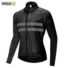 WOSAWE Ultralight Reflecterende mannen Fietsen Jacket Lange Waterdicht Winddicht Road Mountainbike MTB Jassen Fiets Windbreaker(China)