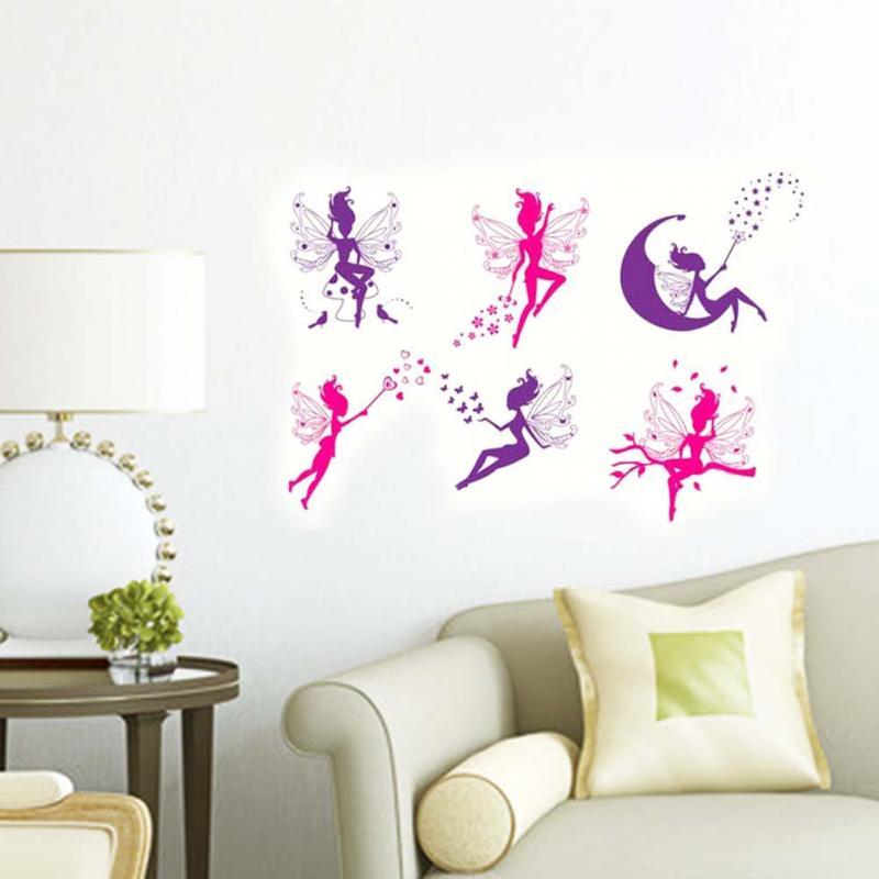 nuevo pegatinas de pared desmontable flor de hadas decoracin del hogar etiquetas de la pared para