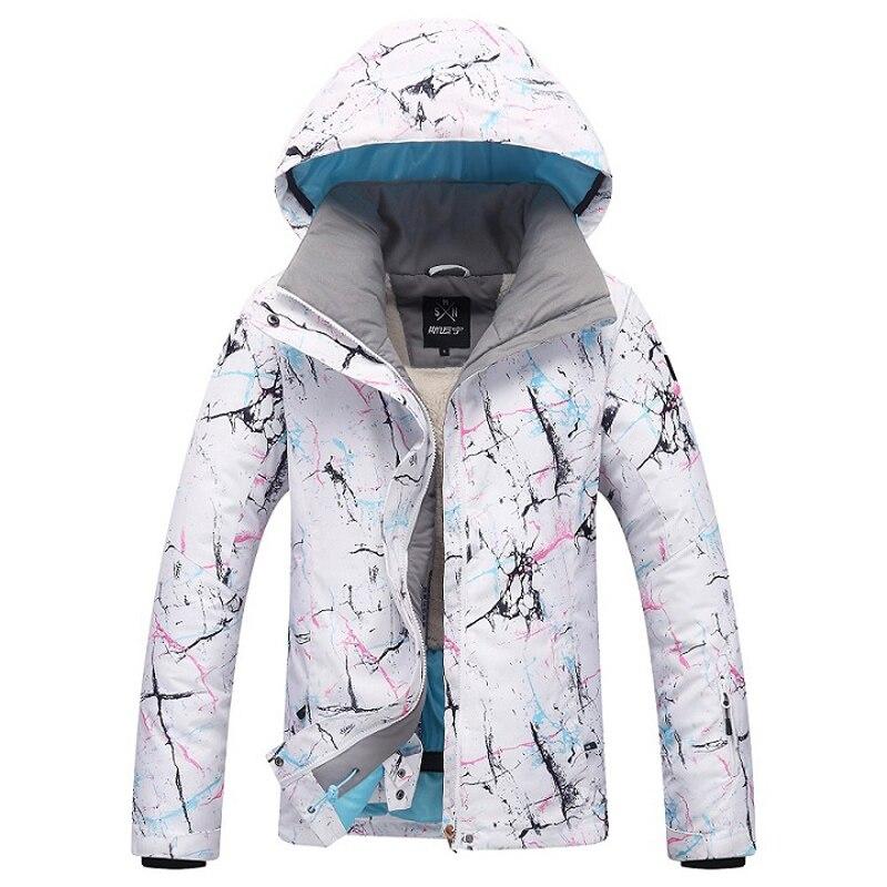 Veste de Ski femme marque 2018 nouveau coupe-vent imperméable manteau de neige chaude femme hiver Ski Snowboard veste Ski femmes