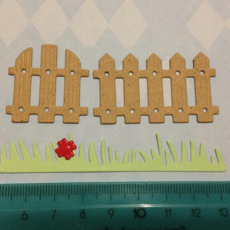 Garden Fence Metal Cutting Dies Courtyard Park Grass Flower Stencil DIY Scrapbook Embossing Album Paper Card Craft Folder in Cutting Dies from Home Garden