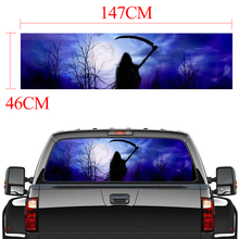 147x46cm Rear Window Sticker Grim Reaper horror Forest Graphic Decal for Truck suv Jeep