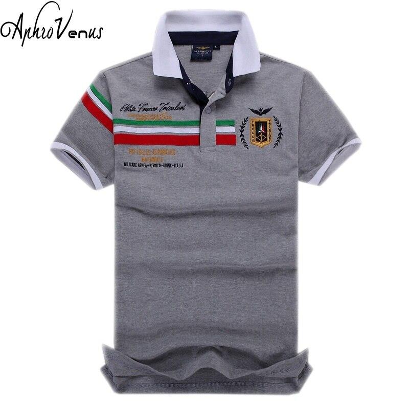 New arrival Camisa Top Shirt Embroidery Aeronautica Militare Polo Shirt Men Brand Shirt Short Sleeve Shirt