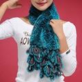 Новый Настоящее РЕКС кролика шарф Graple оформлены обертывание мыс платок шею теплым 13501 Коричневый
