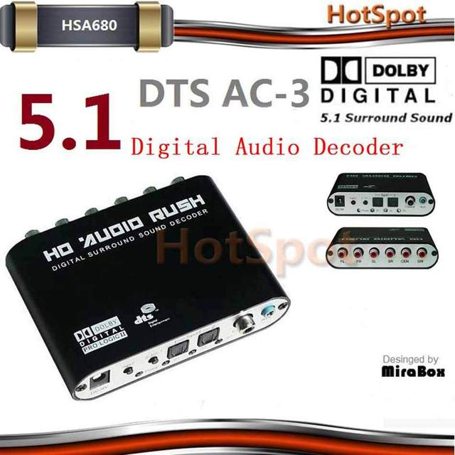 HSA688 HSA680 digital audio decoder support  Digital AC-3 Dolby Pro Logic,DTS,PCM and other digital audio format decode
