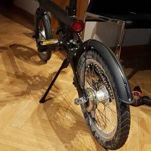 Image 3 - Nuovo Aggiornamento 3rd Generazione Originale Della Bici Parafango e Cavalletto per Xiaomi Qicycle EF1 Bici Elettrica Pneumatico Splash Parafango Supporto
