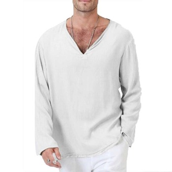 Long Sleeve V neck Tshirt 1