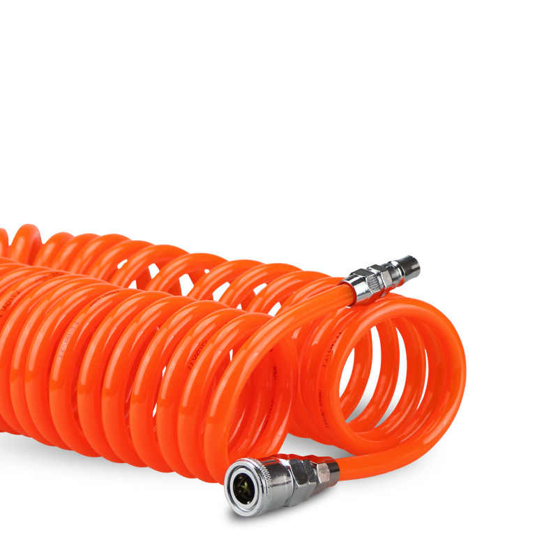 Air Compressor Hose 9M PU pipe Pneumatic Components Spring Tube Portable Coupler PP20+SP20