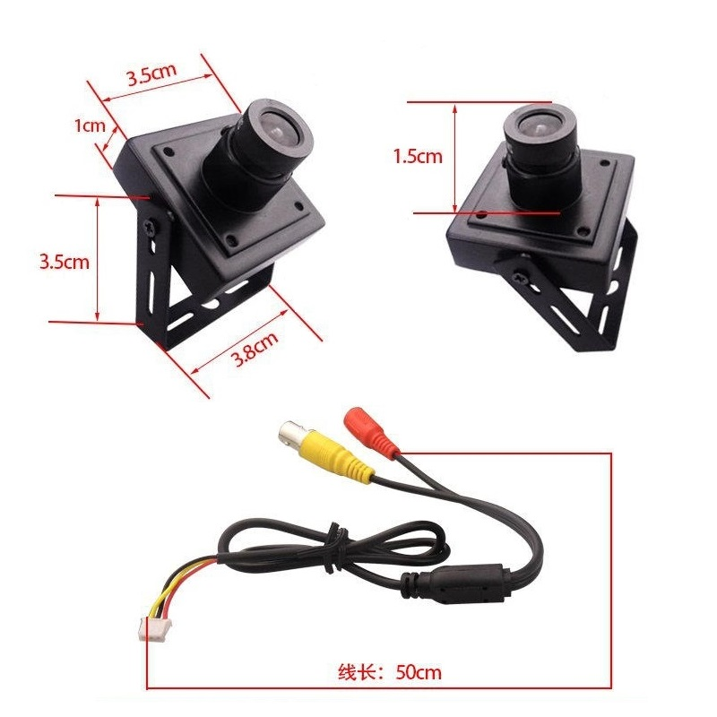 2 8mm Wide Angle HD Video Surveillance Analog 2MP AHD Indoor Mini Camera 1920 1080P CCTV Camera Free Shipping in Surveillance Cameras from Security Protection