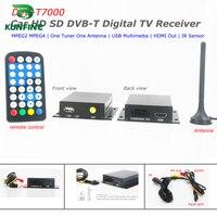 12 24V Car DVB T Receiver Box HDTV One Tuner MPEG4 MPEG2