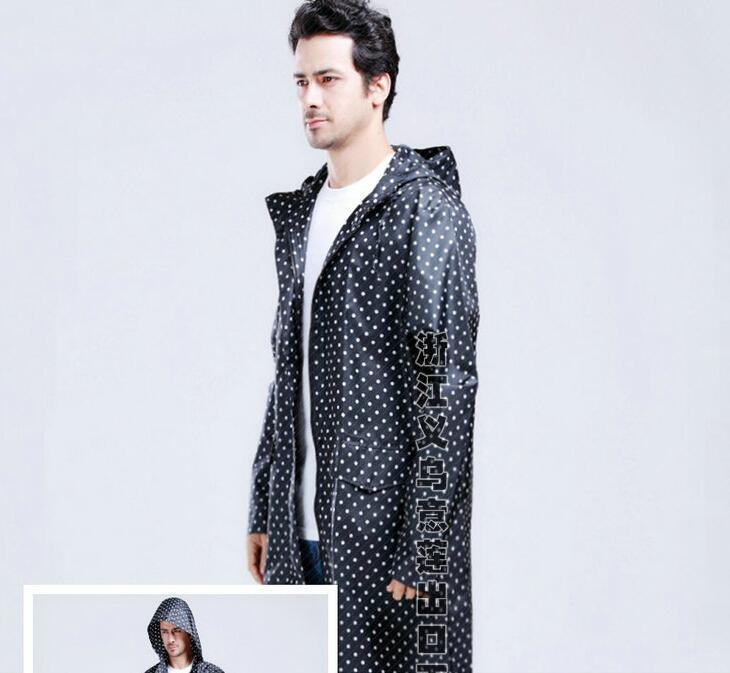 Male big yards fashion classic dot windbreaker raincoats Poncho raincoats wind travel essential ultralight style