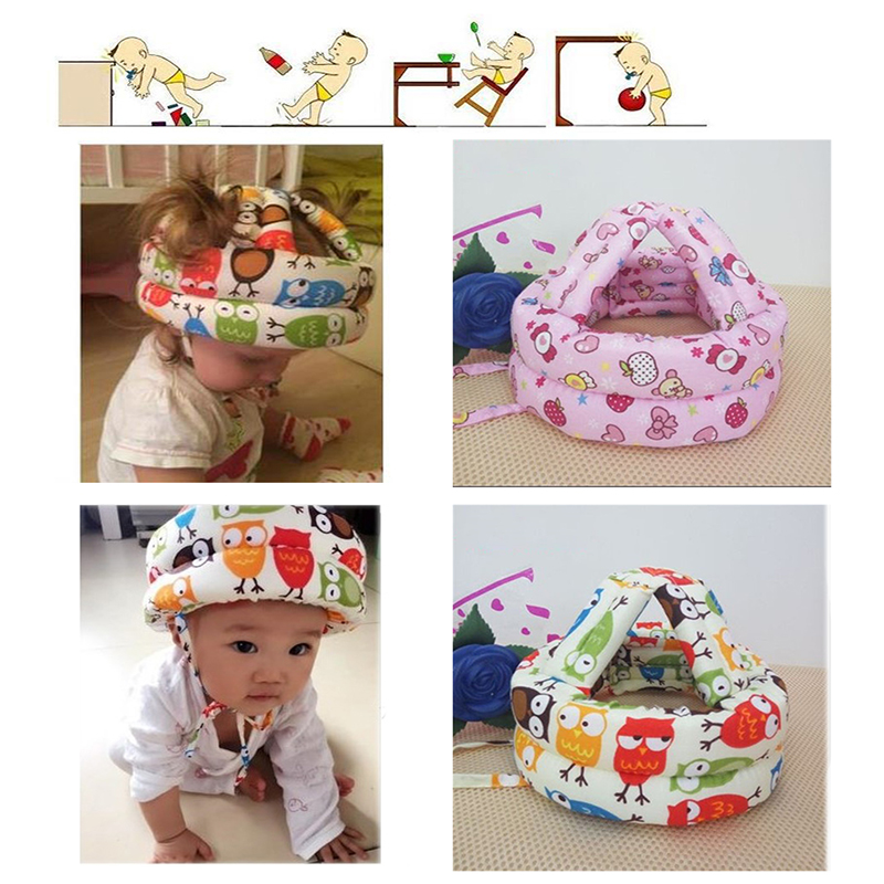 Baby Safety Learn to Walk Cap Anti collision Protective Hat Safety Helmet Soft Comfortable Head Security Protection Adjustable in Hats Caps from Mother Kids