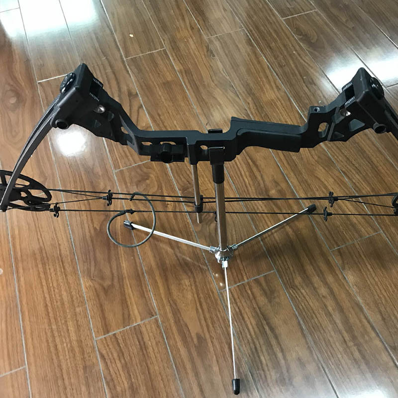 1pc Archery Foldable Bow Stand Hunting Recurve Bow Longbow Holder Automatic Closure Tripod Bracket Rack For Shooting Accessories in Bow Arrow from Sports Entertainment