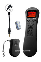 C3 Wireless Timer Remote Controller Shutter Release Cord For Canon EOS 1D 1DX 1Ds 5D Mark