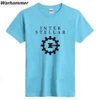 TVFans INTER STELLAR Men T Shirt New Fashion Flocking Print Short Sleeve Women Summer Tee Shirt