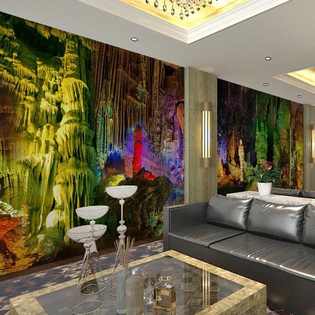 Home Bar Decor Wall Murals Living Room Bedroom Papers Dreamy Lights Photo Wallpaper Self