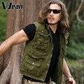 V JEAN  Men's Utitlity Full-Zip Safari Travel  Vest   5B521