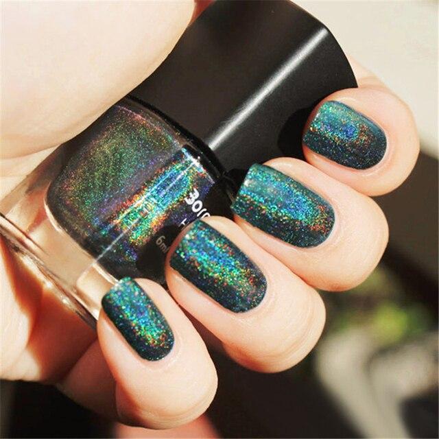 6ml Malachite Green Born Pretty Holographic Holo Glitter Nail Polish Varnish Hologram Effect 12