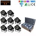 Китай 8IN1 Кофр Упаковка 18x18 W Led Par Zoom Wi-Fi Свет гладкая Диммер Матовое Пластиковые Линзы Вентилятор Охлаждения Встроенный 2.4 Г беспроводной