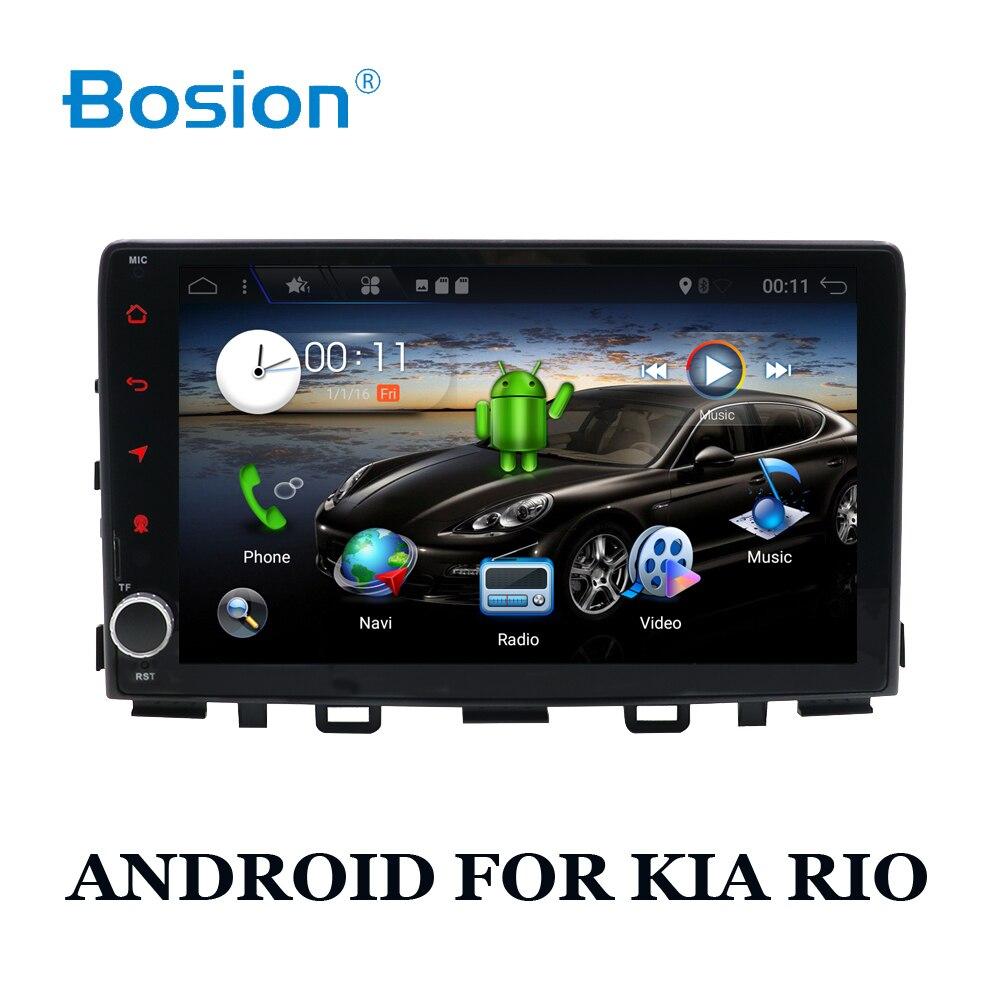 Date BOSION 1DIN Android 7.1 QUAD Core 2G + 16G Voiture Lecteur DVD GPS Navi Pour KIA RIO radio Multimédia Satnav Headunit Stéréo BT