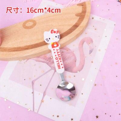 10 шт мультфильм Doraemon Губка Боб Ложка Вилка лучший подарок для детей - Цвет: white spoon