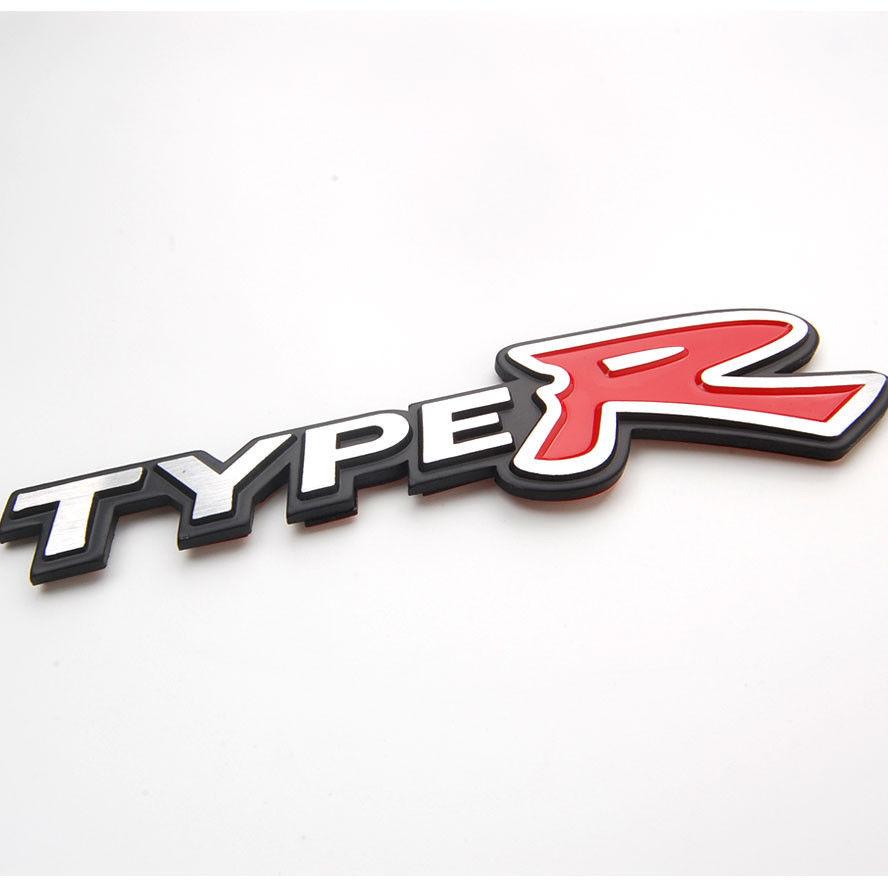 Auto Metal TYPE R Emblem Bumper Trunk Fender Hood Decals Badge Sticker for HONDA Accord Typer 02 Car Styling auto accessories auto chrome camaro letters for 1968 1969 camaro emblem badge sticker