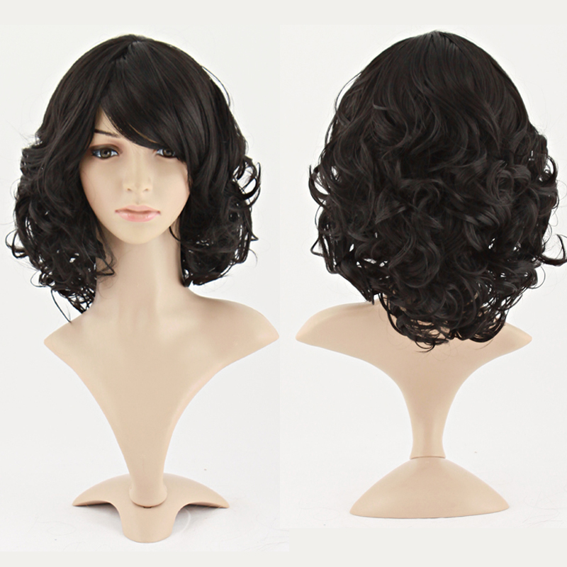 Charm Curly Black Hair Synthetic Wig (NBW0WG60111-BL2)