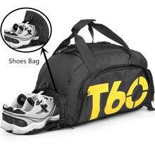 Водонепроницаемый спортивная сумка Для мужчин Для женщин Молл Фитнес спортивный рюкзак Многофункциональный Путешествия/Чемодан Bolsa плечо сумочка