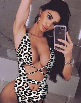 Leopard/Snake Skin High Waist Swimsuit 7