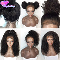 180 Density Full Lace Wig With Baby Hair Curly Full Lace Human Hair Wigs For Black Women 7A Malaysian Lace Front Human Hair Wigs