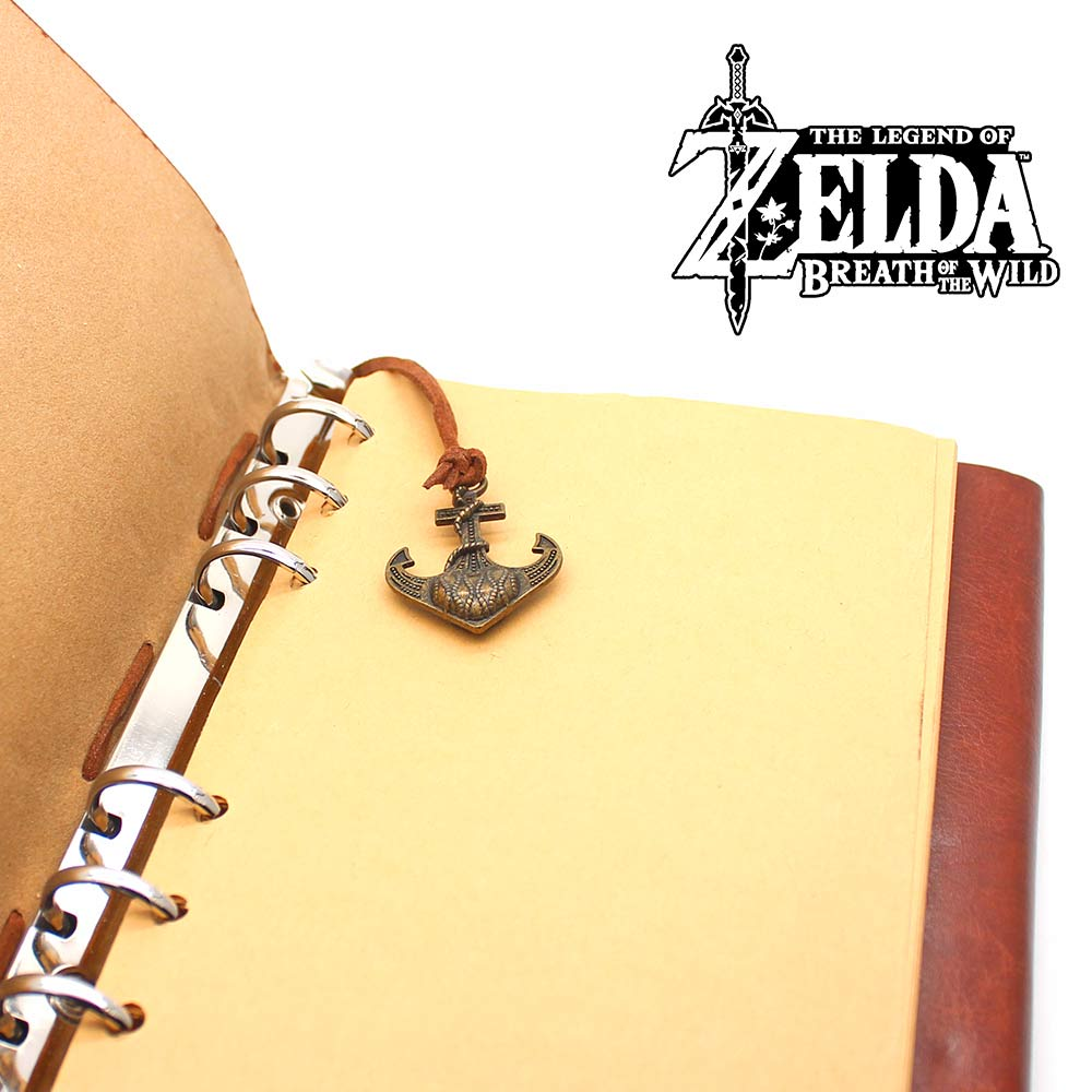 Giancomics The Legend of Zelda Notebook Leather and Kraft Paper Retro Game Notebook Learning Efficiency Ornament Student Gift