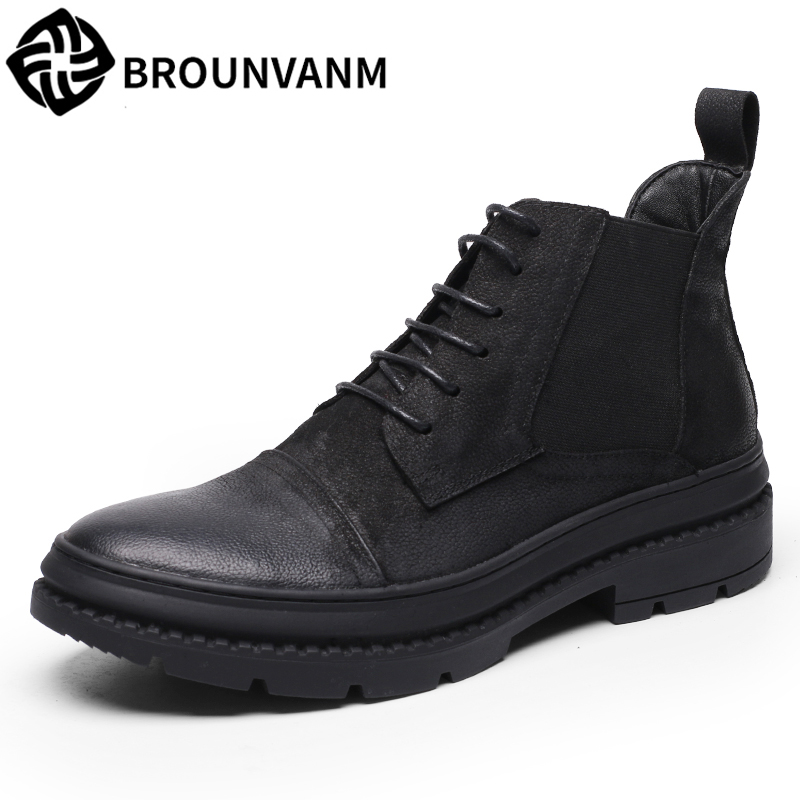 Martin boots male tide boots cotton men's shoes with thick soles for winter breathable leather high shoes men boots fashion 2017 european sports male leather shoes white shoesmen breathable sneaker fashion boots men casual shoes handmade fashion comfo