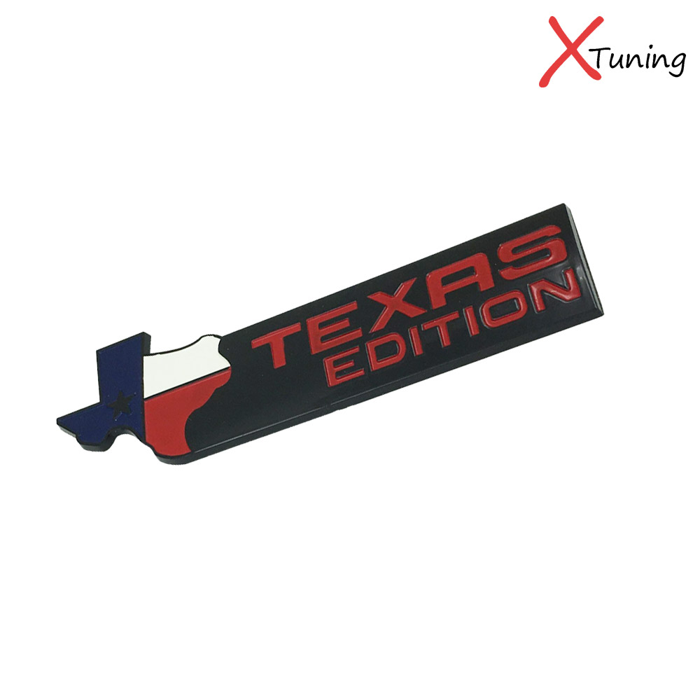 2pcs black chromium finish 3d texas edition chrome badge emblems for ford also universal for