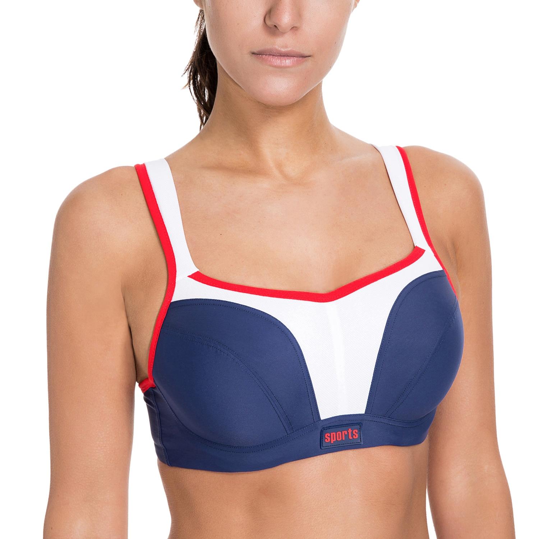 438cc1727a Women s Level 4 Maximum Support Molded Cups Active Bra Plus Size 32 42 B C  D DD E F-in Bras from Underwear   Sleepwears on Aliexpress.com