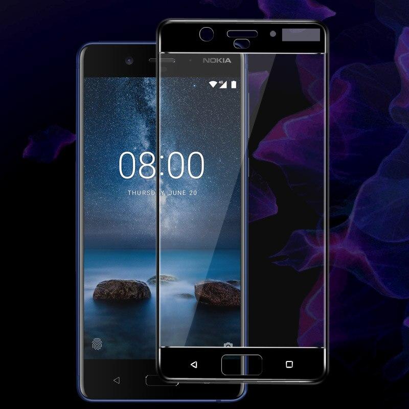 Imak Amazing 2.5D Screen Protector For Nokia 8 Full Cover Tempered Glass for Nokia 8 Nokia8 Dual Sim Protective Glass Film nokia 8 new 2018
