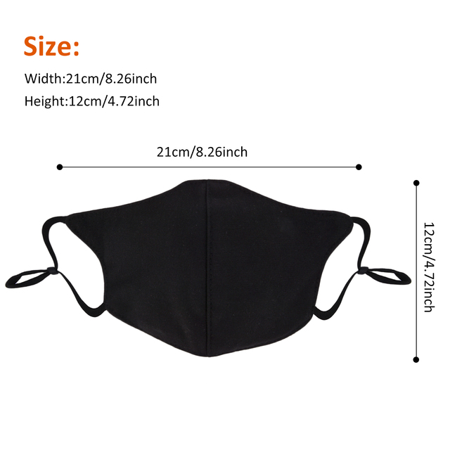 3Pcs Women Black Bilayer Cotton Mouth Mask Anti Haze Dust Washable Reusable Double Layer Dustproof Mouth-muffle Winter Warm Mask 4