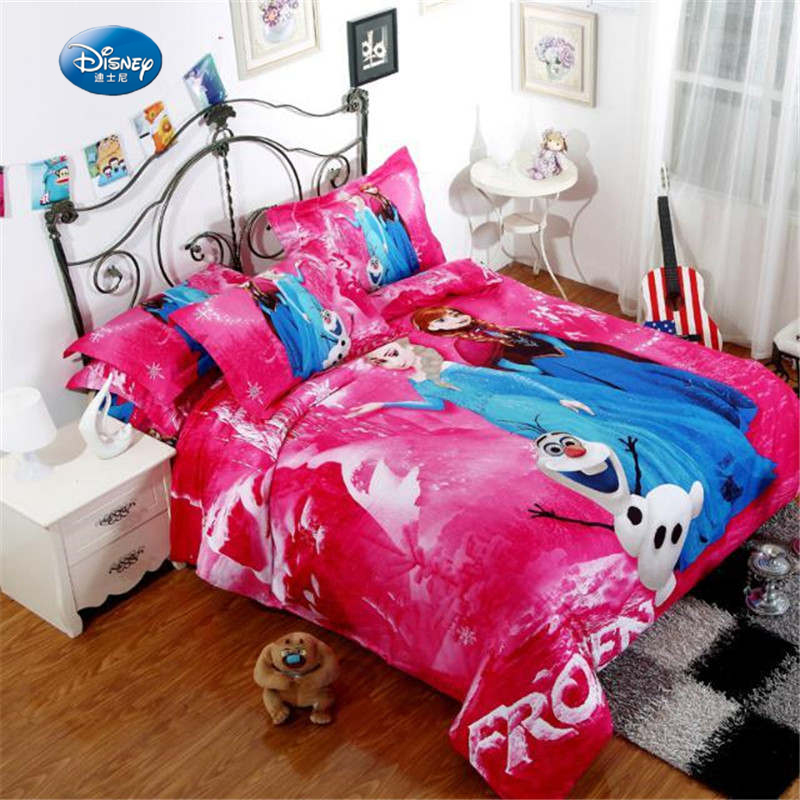 Disney Frozen Elsa Anna Cartoon Printed Stylish Bedclothes Bedding Set Girls Including Duvet Cover Bedsheet Pilowcases Bedlinen Disney Frozen Elsa Anna Cartoon Printed Stylish Bedclothes Bedding Set Girls Including Duvet Cover Bedsheet Pilowcases Bedlinen