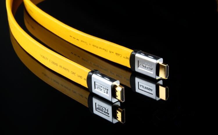 Salut-Fin 6N Cuivre Sans Oxygène Câble HDMI 2.0 Version de 4 k HD Ligne Ordinateur TV 3D Ligne reliant