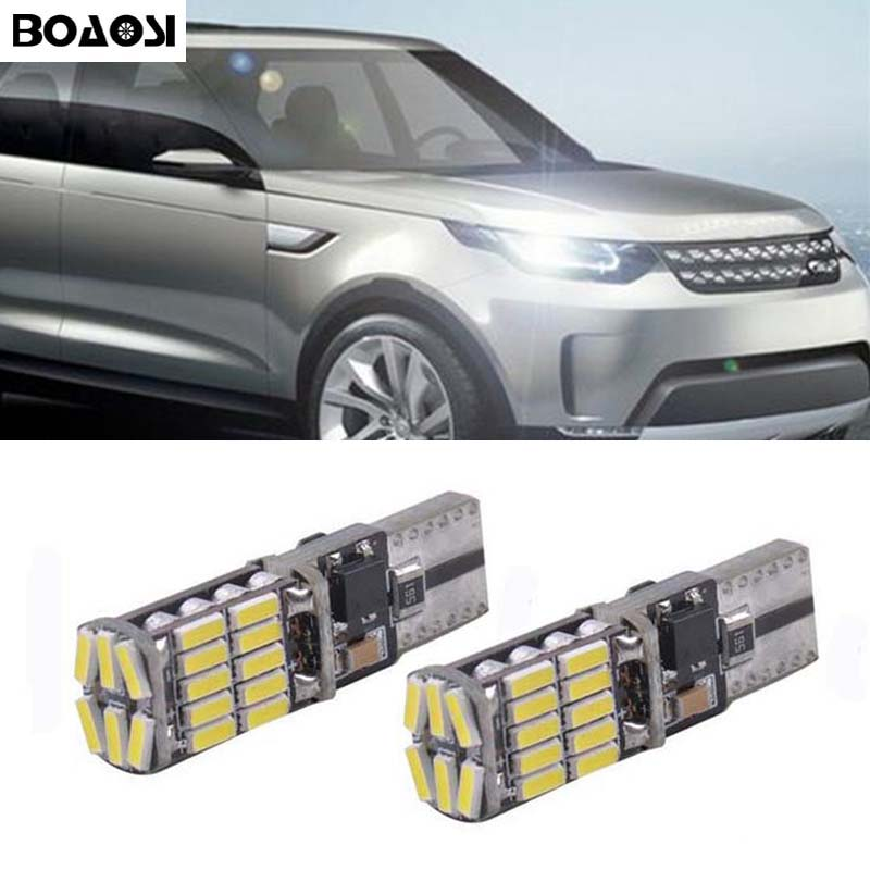 BOAOSI 2x Canbus LED T10 Clearance Parking Light Wedge Light For Land Rover v8 discovery 4 2 3 x8 freelander 2 defender A8 a9