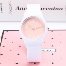 Brand New Fashion Cute Harajuku Pink Girl's Boy's Children Watch Waterproof Sport Jelly Watch(China)