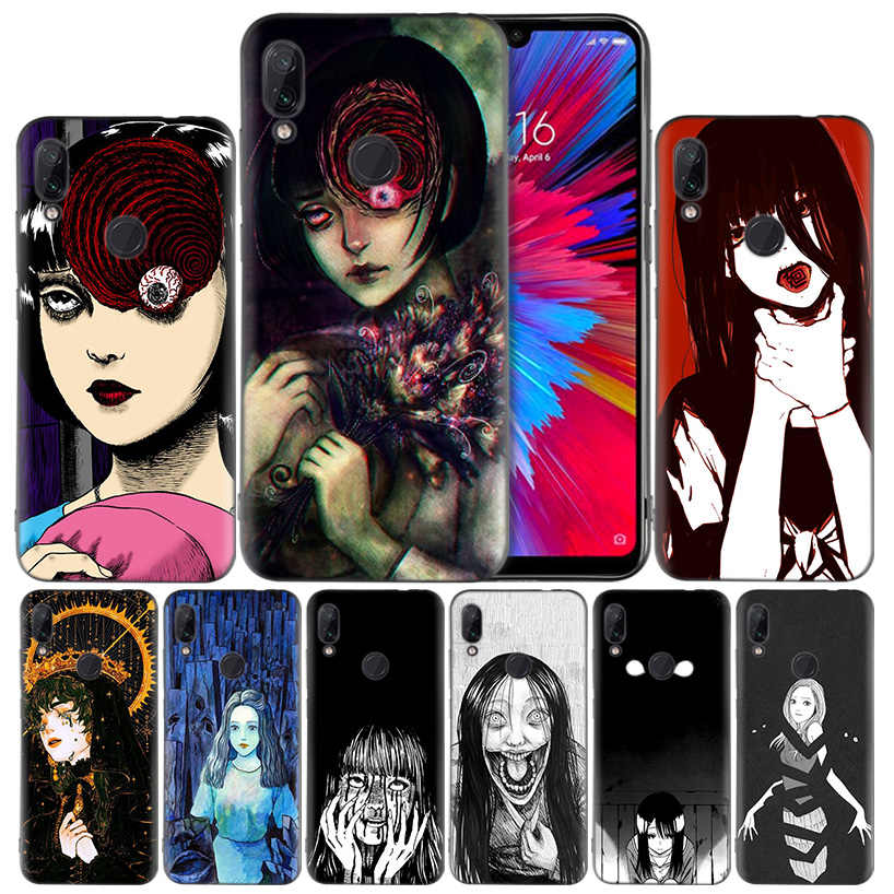 Japanese Horror Comic Tomie Silicone Case Cover for Xiaomi Mi 9 8 Play A1 A2 Redmi Note 7 6 6A 5 Plus S2 GO Lite Pro PocophoneF1