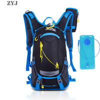 ZYJ Cycling Hiking Hydration Backpack Men Women Camping Sport Camelback With 2L Water Bladder Bicycle Travel Backpack Bag