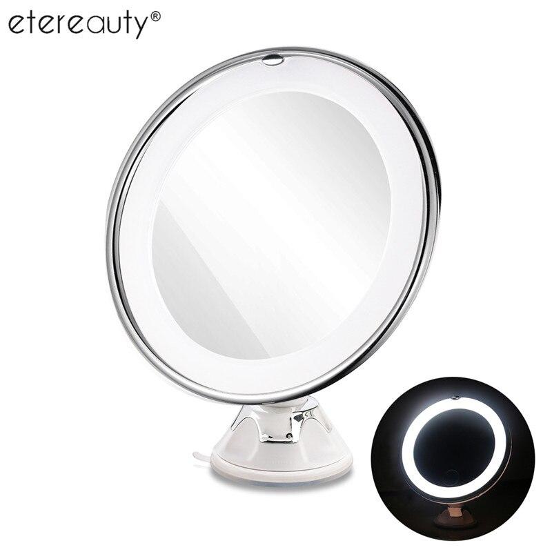 Brillant Etereauty 7x Vergrößerungs Spiegel Kosmetik Make-up Spiegel Mit Power Locking Saugnapf Helle Diffuses Licht 360 Grad Rotierenden Haut Pflege Werkzeuge
