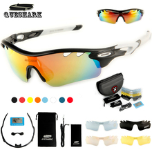 Queshark Polarized Cycling Glasses Bike Goggles Sports Bicycle Sunglasses TR90 UV400 5Lens Outdoor Hiking Riding Fishing Eyewear