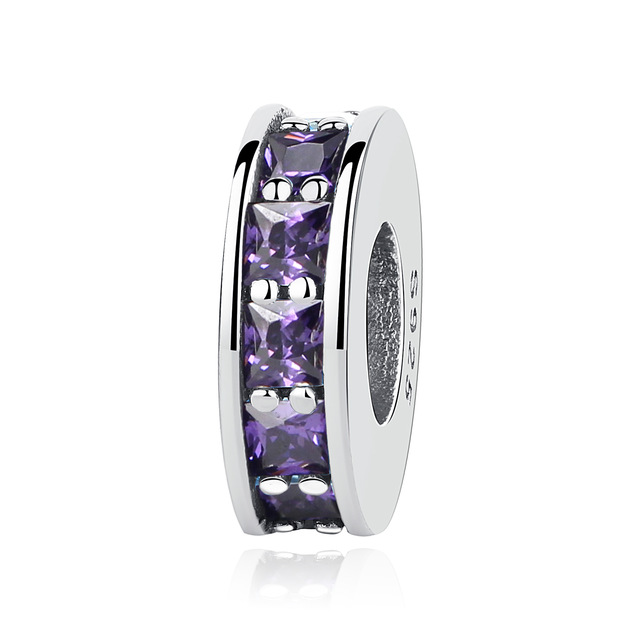 NBSAMENG Authentieke 925 Sterling Zilver Micro-pave Pure Color Spacer - Mode-sieraden - Foto 3