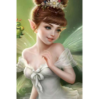 Sale Diamond Embroidery Diamond Mosaic Cartoon Diamond Painting Angel Girl Wall Stickers Christmas Gift
