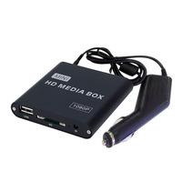Box U Disk HD 1080P Multifunctional Mini Car HDD Center Portable Video Media Player USB Black  alloy
