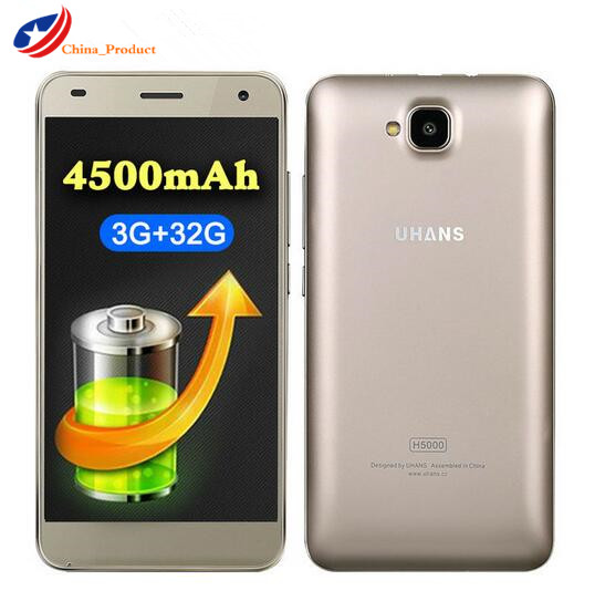 UHANS H5000 4G LTE 4500mAh Battery 5 0 HD 1280 720 Smartphone Android 6 0 MTK6737