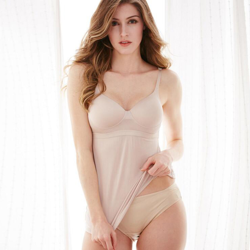 New 100% natural silk vest style rimless bottoming underwear, sleep bra straps one piece knit, thin section - 2