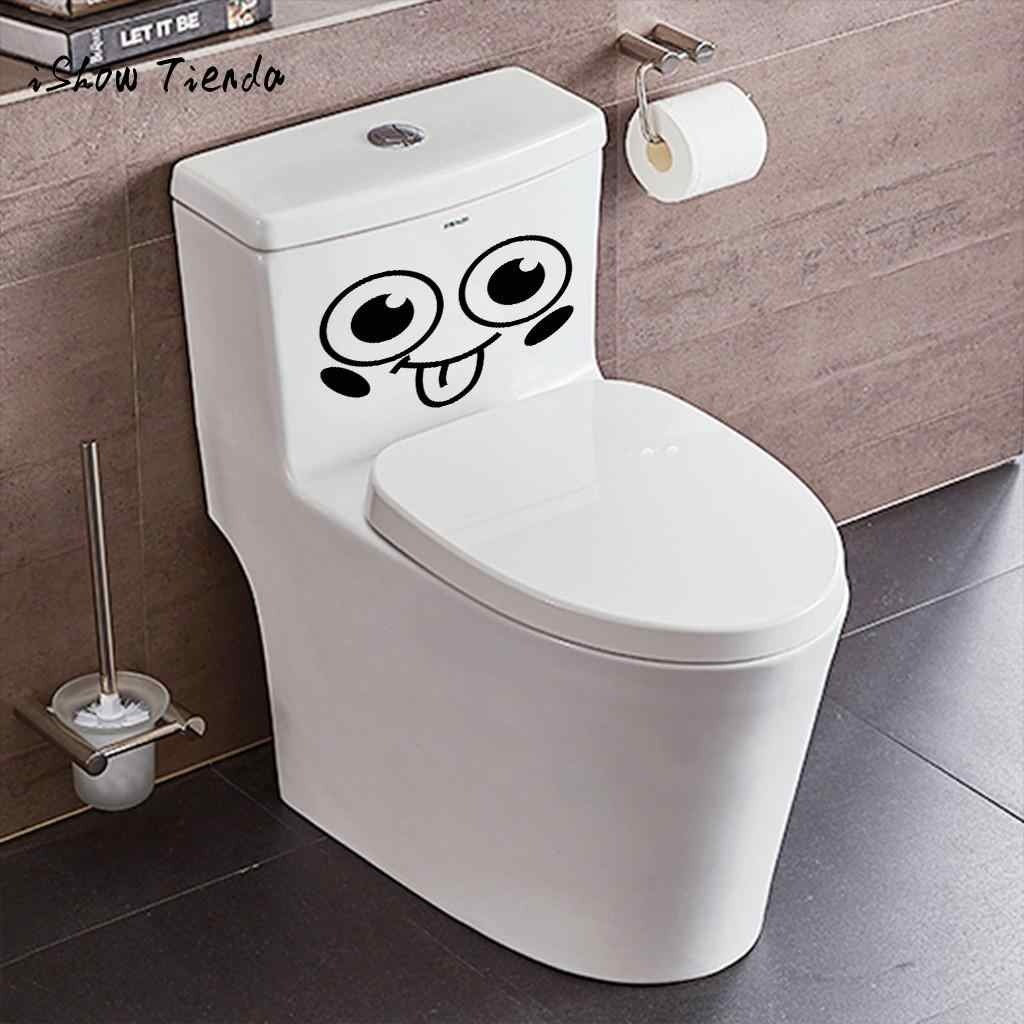 Lovely Smiling Face Free Decoration Fashion Bedroom Home Toilet toilette wc  door Stickers bathroom sign toilet poster
